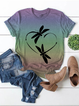 Plus size Casual Short Sleeve Shirts & Tops