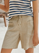 Striped Pockets Casual Pants