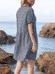 Blue Swing Short Sleeve V Neck Floral Mini Dresses