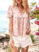 Flower Floral Printed Holiday Shirts & Tops