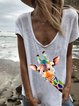 Casual Printed Cotton-Blend Shirts & Tops