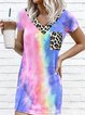 Multicolors Casual Dip-Dyed Dresses