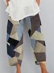Blue Shift Geometric Cotton Pants