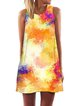 As Picture Cotton-Blend Crew Neck Sleeveless Dresses