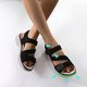 Split Joint Pu Sandals