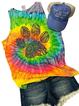 Graffiti Printed Casual Crew Neck Sleeveless Vest