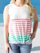 Stripe Color Blocking Summer Tank Tops