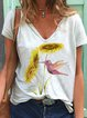 White Cotton-Blend Short Sleeve Shirts & Tops