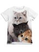 White Short Sleeve Animal Printed Shirts & Tops