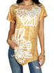 Asymmetric Short Sleeve Casual Shirts & Tops