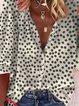Vintage Half Sleeve Boho Floral Printed V Neck Plus Size Casual Tops
