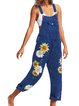 Casual Floral Overalls