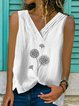 Casual Cotton-Blend Sleeveless Shirts & Tops