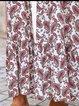 Women Paisley Cotton Casual Maxi Dresses