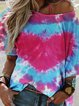 Tie-Dyed Short Sleeve Ombre/tie-Dye Shirts & Tops