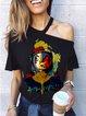 Black Short Sleeve Vintage Shirts & Tops