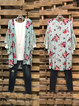 Floral Print Cardigan with Lotus Leaf Cuffs