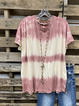 Pink Casual Cotton Crew Neck Shirt & Top