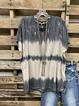 Black Crew Neck Cotton Casual Shirt & Top
