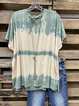 Blue Casual Cotton Short Sleeve Shirt & Top