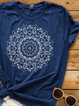 Blue Casual Short Sleeve Shirts & Tops