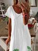 White Shift Casual Dresses