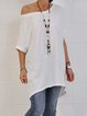 Casual Solid Cotton Shirts & Tops