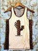 Brown Sleeveless Paneled Shift Shirts & Tops