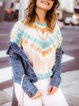 Multicolor Sexy Ombre/tie-Dye Dip-Dyed Shirts & Tops