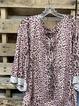 Purple 3/4 Sleeve Cotton Shirts & Tops