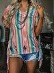 Pink Jersey Vintage Crew Neck Shirts & Tops
