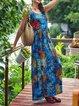 Sleeveless Maxi Dress Summer Plus Size Printed Dresses