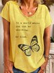 Yellow Casual V Neck Cotton Shirts & Tops