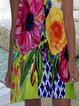 Multicolor Sleeveless Floral Dresses