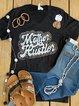 Black V Neck Shift Casual Cotton Shirts & Tops