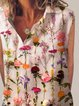 Multicolor Printed Sleeveless Cotton Shirt Collar Shirts & Tops