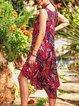 Sleeveless Midi Dress Summer Plus Size Dresses