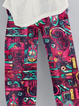 Cotton-Blend Printed Casual Pants