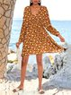 Datered Floral Boho A-Line V Neck Dresses