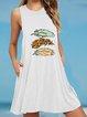 Holiday Crew Neck Sleeveless A-Line Dresses