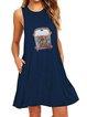 Floral-Print Sleeveless Dresses