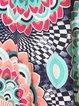 Colorful Mandala Print Round Neck A-Line Dress