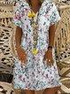 Short Sleeve Floral Floral-Print Dresses
