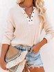 Light Pink Long Sleeve Casual Shirts & Tops