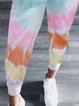 Casual Cotton-blend Color-Block Pants