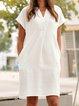 White Casual Shift Dresses