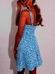 Holiday Floral Scoop Neckline Dresses