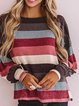 Multicolor Cotton-Blend Casual Patchwork Shirts & Tops