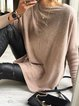 Round Neck Elegant Long Sleeve Shirts & Tops
