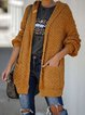 Yellow Long Sleeve Patchwork Outerwear